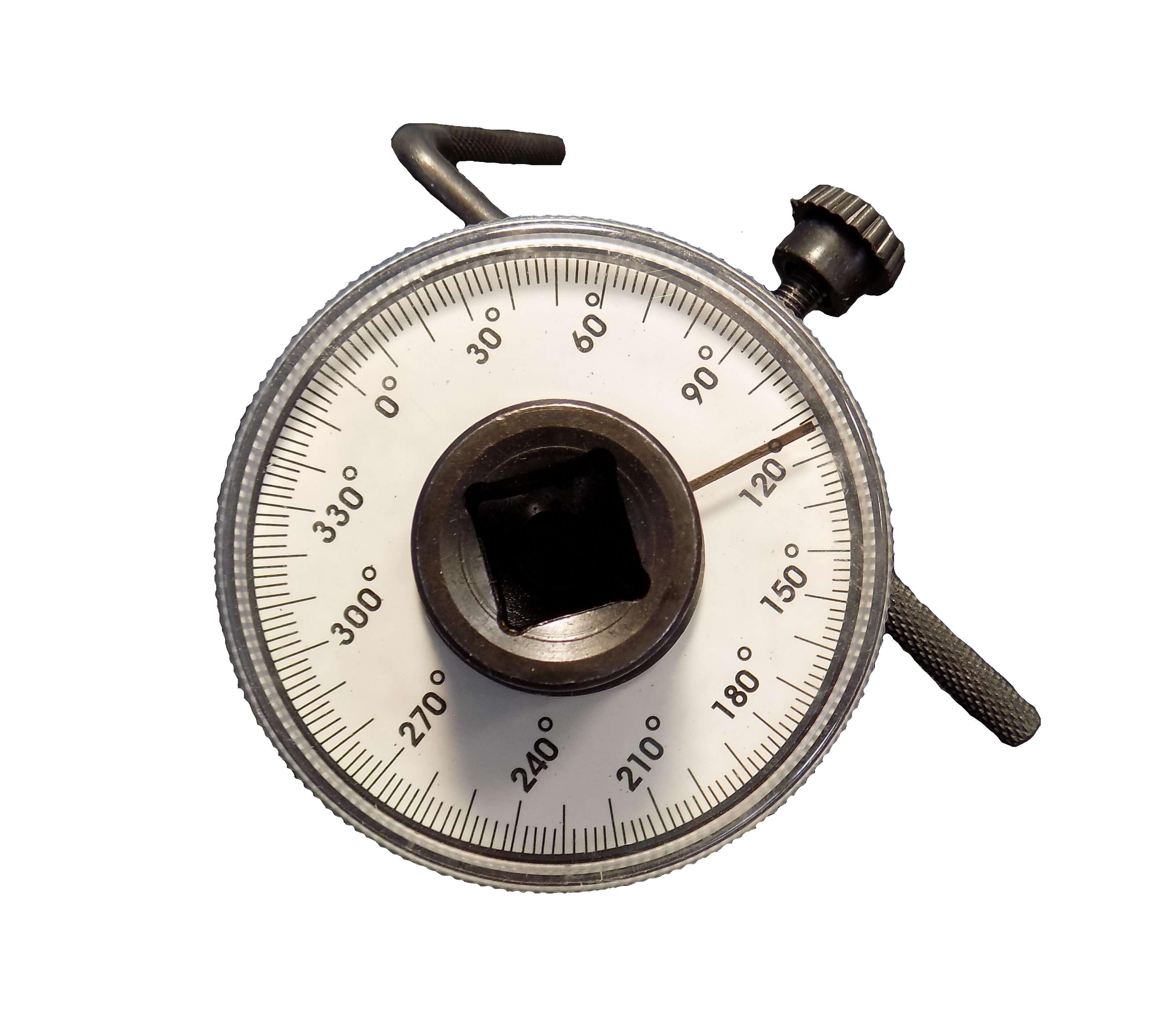 Llave de ángulo de torsión ajustable de entrada de 1/2 pulg., 360 grados y salida de 1/2 pulgada Medidor de ángulo de rotación / Goniómetro Angulometro GONIOMETRO SASAN